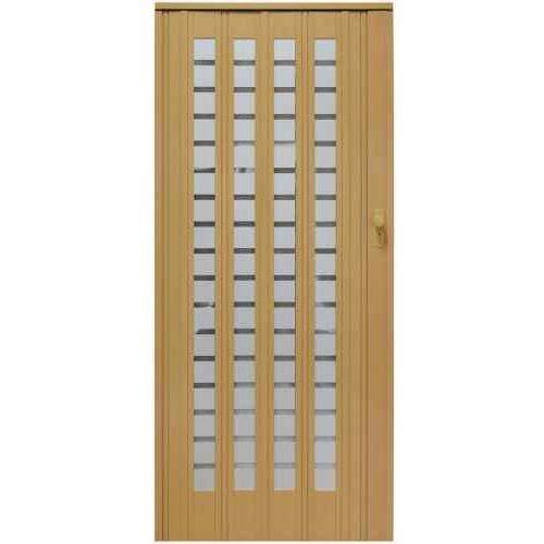 Drzwi harmonijkowe 015 b1 jasny dąb mat 86 cm marki Gockowiak