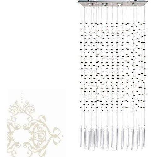 lampa wisząca ZONE z ciemnobrązowymi krzyształkami, SINUS 8293 DBR