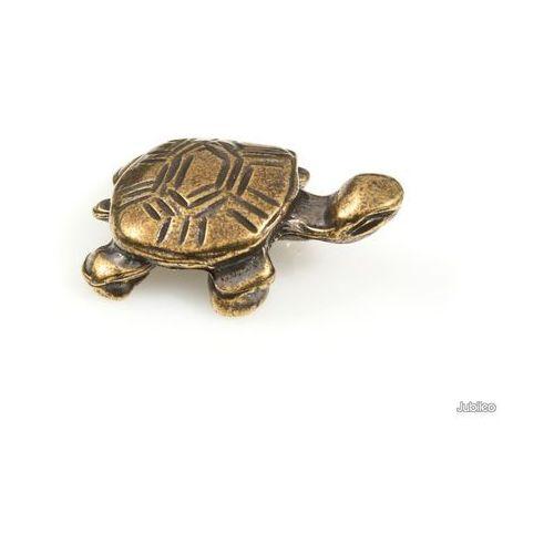Jubileo.pl Figurka żółwik na szczęście retro boho kolor stare złoto zwierzęta