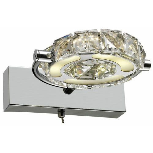 Kinkiet lampa ścienna Reality Diamond 1x5W LED chrom / kryształ 215001-06