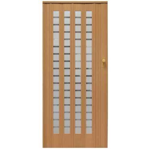 Drzwi harmonijkowe 015 b1 buk mat 86 cm marki Gockowiak