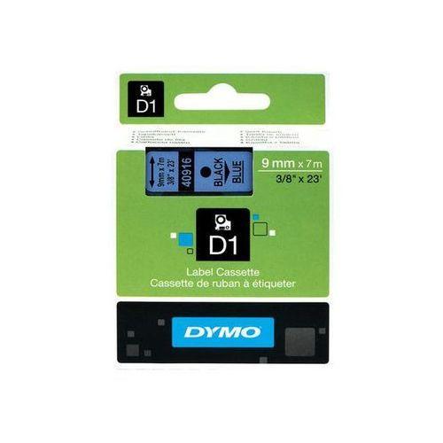 taśma d1 9mm x 7m, czarny na niebieskim marki Dymo