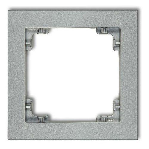 Ramka uniwersalna pojedyncza DECO Karlik srebrny metalik 7DR-1 (5903418063306)