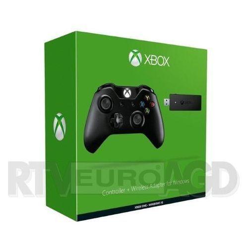 Kontroler / Gamepad Microsoft Xbox One + bezprzewodowy adapter dla Windows 10 (0885370944211)