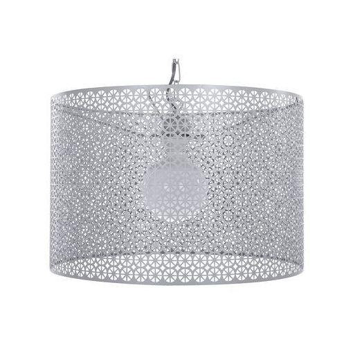 Beliani Lampa wisząca metalowa szara mezen (4260624114620)