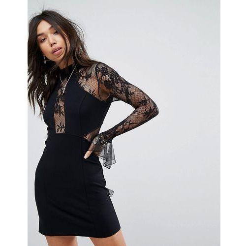 Free People Now or Never Mini Dress - Black, kolor czarny