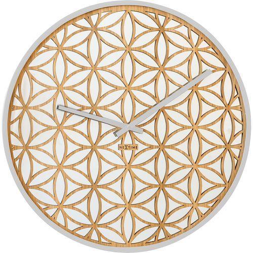 Zegar ścienny Bella Mirror Nextime biały (3194 WI), kolor biały