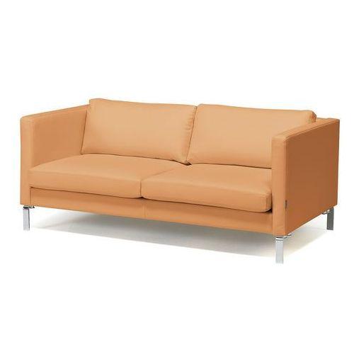 2,5 siedziskowa sofa z serii KVADRAT tapicerowana skórą w kolorze naturalny z kategorii Sofy