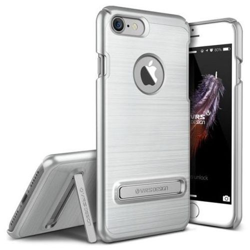 Etui VRS DESIGN Simpli Lite do iPhone 7 Srebrny Stalowy