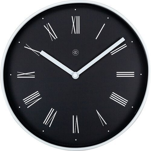 Nextime Zegar ścienny czarny irving nxt 25 cm (7324) (8717713024910)