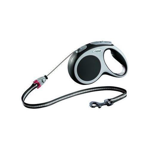 FLEXI Smycz automatyczna VARIO kolor: czarny S linka - 5m - do 12kg (4000498019108)