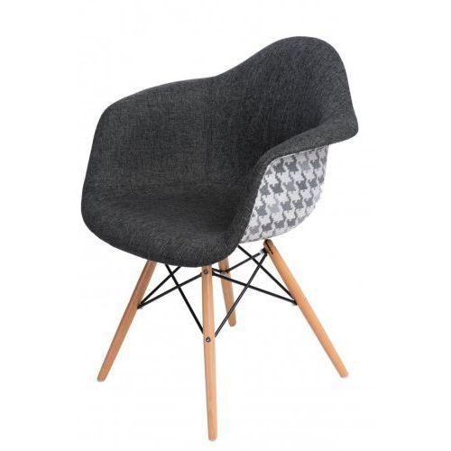 Krzesło P018W Pattern szare/pepitka (5902385700931)