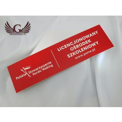 Grawernia.pl - grawerowanie i wycinanie laserem Szyldy czerwone, prostokątne na drzwi - 29x8cm
