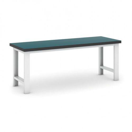 Profesjonalny stół warsztatowy gb 500, zielony blat, długość 2100 mm marki B2b partner