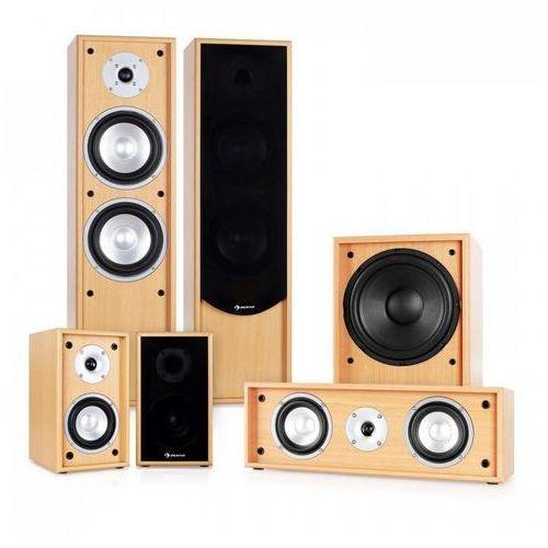 Auna linie-300-bh system audio 5.1 do kina domowego 515w rms bukowy (4260374310129)