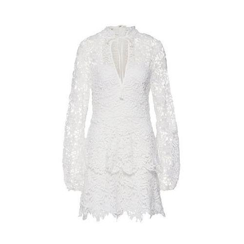 Missguided Sukienka koszulowa 'CROTCHET LAYERED' weiß, w 6 rozmiarach