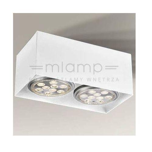 Shilo Spot lampa sufitowa yatomi 7134 regulowana oprawa prostokątna biała (5903689971348)