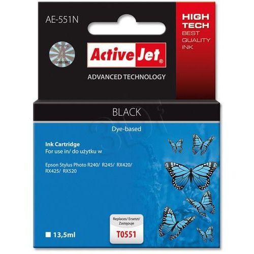 Tusz ActiveJet AE-551N (AE-551) Czarny do drukarki Epson - zamiennik Epson T0551 (5904356283986)