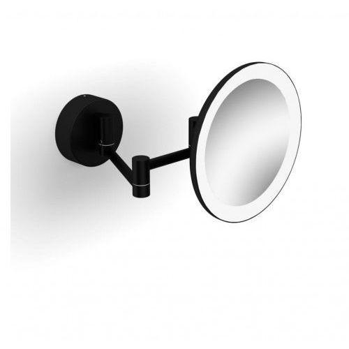 Stella lusterko kosmetyczne powiększające x3 podświetlane led ruchome ramię czarne 22.00230-b