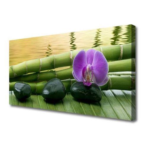 Tulup.pl Obraz na płótnie kwiat kamienie bambus natura