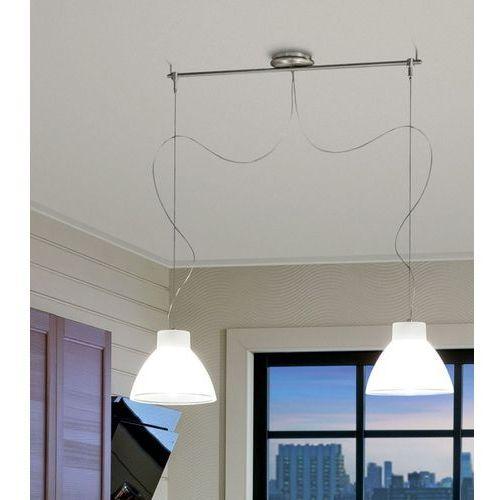 Lampa wisząca campana nikiel 2 x e27 żarówki led gratis!, 4432 marki Linea light