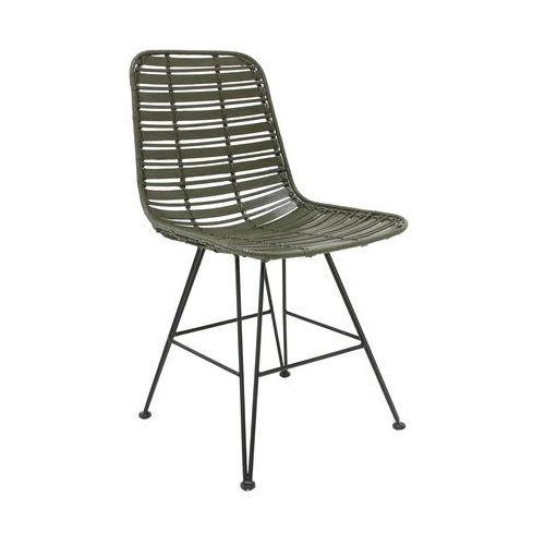 HK Living Rattanowe krzesło Hokaido, oliwkowe MZM4629, kolor zielony