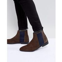 River island formal chelsea boot in brown - brown