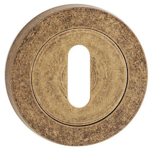 Szyld drzwiowy dolny okrągły na klucz patyna antyczna marki Metalbud