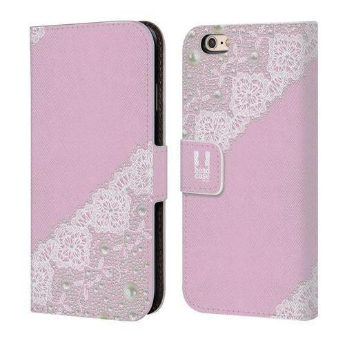 Etui portfel na telefon - laces and pearls pink marki Head case
