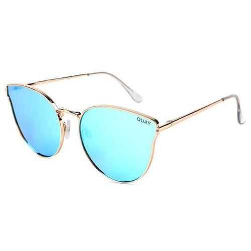 Okulary Słoneczne Quay Australia QW-000133 ALL MY LOVE GOLD/BLUE, kolor niebieski