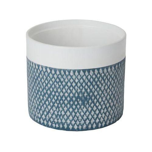 Goodhome Doniczka ceramiczna ozdobna 17 cm niebieska (3663602440987)