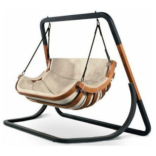 Podwójny beżowy fotel wiszący do ogrodu - pasos 4x marki Producent: elior