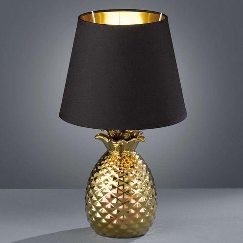 Ceramiczna lampa stołowa Pineapple, czarno-złota (4017807377590)