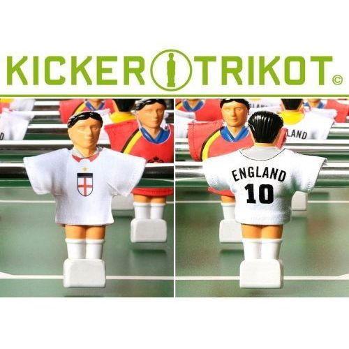 Komplet 11 koszulek reprezentacji państw dla postaci do piłkarzyków - Anglia