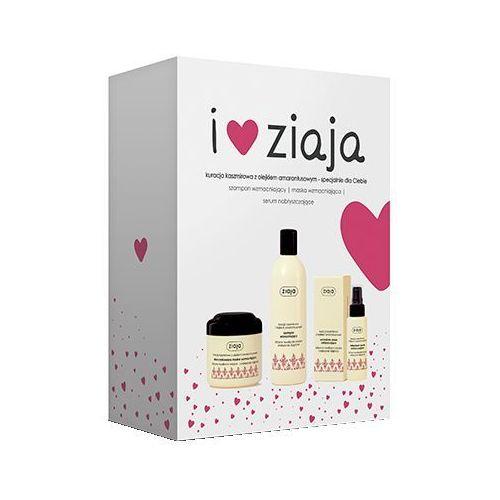 Ziaja Cashmere zestaw 300 ml Wzmacniający szampon 300 ml + Wzmacniająca maska do włosów 200 ml + Wzmacniające serum do włosów 50 ml dla kobiet, 5901887043959