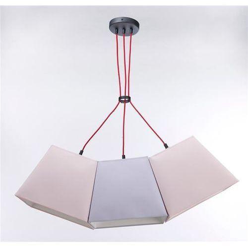 Lampa Wisząca WERDER 3 3235 - Pastelowy łosoś/Pastelowa jagoda, kolor Pastelowy