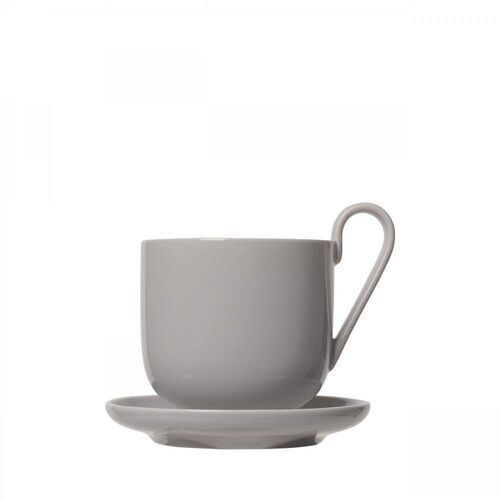 Zestaw 2 kubków do kawy z podstawkami ro, mourning