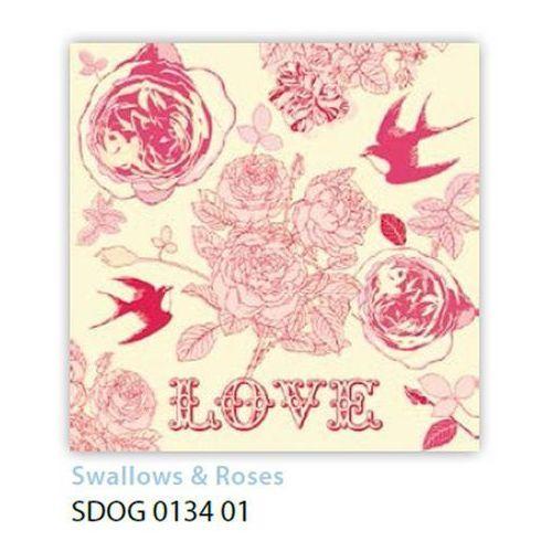 Serwetki 33 x 33 cm sdog 013401 ptaszki i kwiatki -  marki Pol-mak