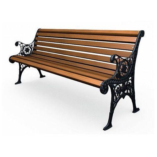 Żeliwna ławka parkowa z ornamentem