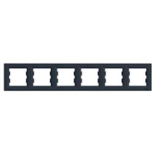 Ramka sześciokrotna asfora eph5800671 pozioma antracyt marki Schneider