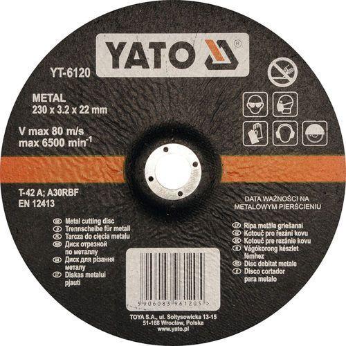 Tarcza do cięcia metalu, wypukła 230x3.2x22 mm Yato YT-6120 - ZYSKAJ RABAT 30 ZŁ (5906083961205)