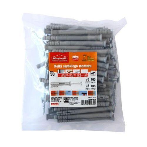Kołek do szybkiego montażu 8X100MM 50 szt. WKRĘT-MET (5907704429302)