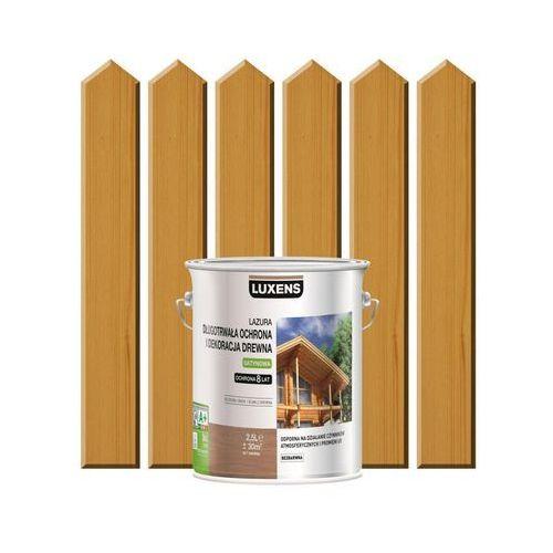 Lazura do drewna długotrwała ochrona i dekoracja drewna 2,5 ldąb naturalny marki Luxens