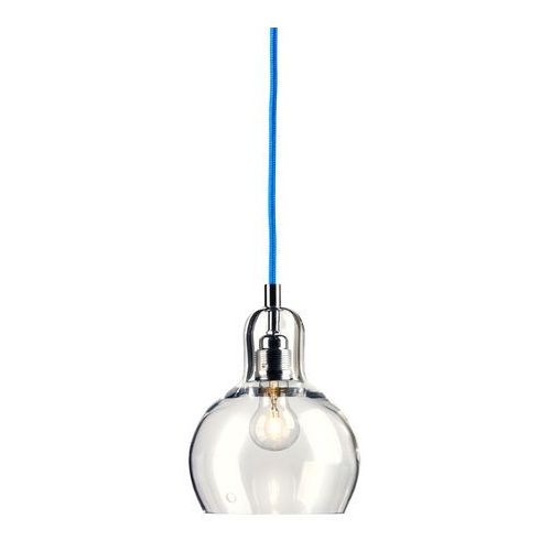 LAMPA wisząca LONGIS I 10126909 Kaspa szklana OPRAWA minimalistyczny ZWIS przezroczysty niebieski (5902047300318)