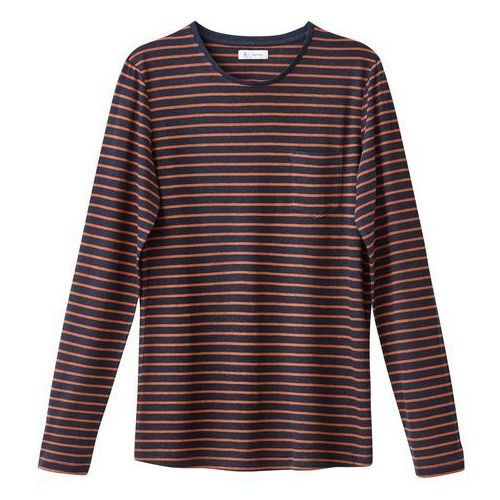T-shirt z długim rękawem, okrągłym dekoltem, w paski, len z domieszką, R essentiel