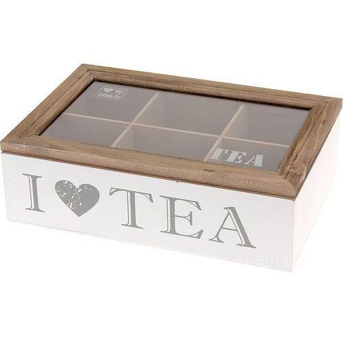 Emako Drewniana herbaciarka - szkatułka na herbatę