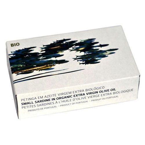 Portugalskie mini sardynki Petingas w oliwie BIO 125g Maria Organic