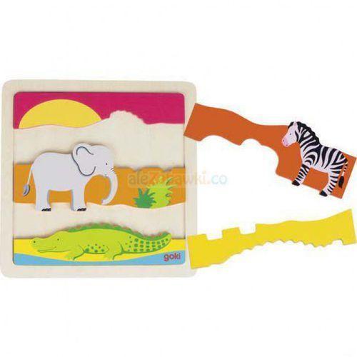 Puzzle afryka - marki Goki