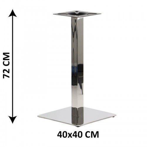 Podstawa stolika SH-3002-1/60/P, 40x40 cm, stal nierdzewna polerowana (stelaż stolika), SH3002-1/P/40/72/6