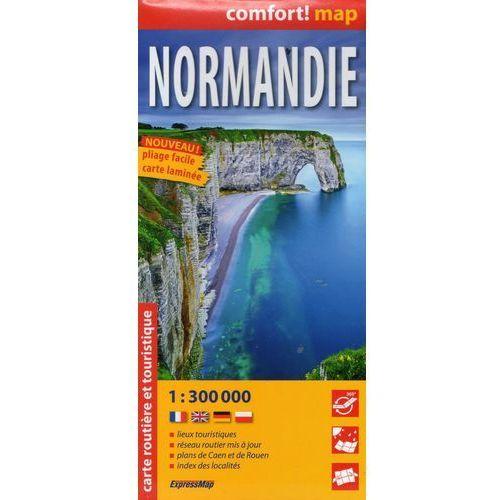 Expressmap Normandia mapa laminowana samochodowa 1:300 000 (kategoria: Podróże i przewodniki)